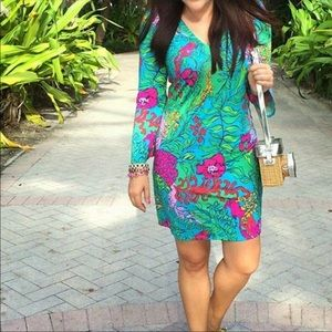 Lilly Pulitzer Jade Shake Your Tail Feather Dress